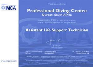 IMCA Assistant Life Support Technician