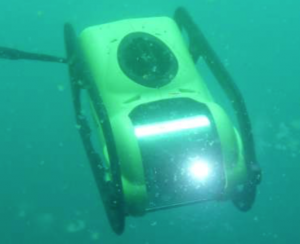 The PDC ROV has a depth capability of 200 metres