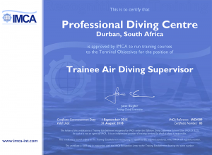 IMCA Trainee Air Supervisor Certificate