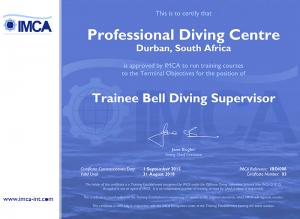IMCA Trainee Bell Supervisor Certificate