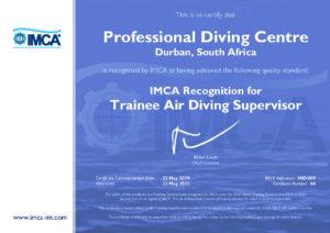 IMCA Trainee Air Supervisor Certificate